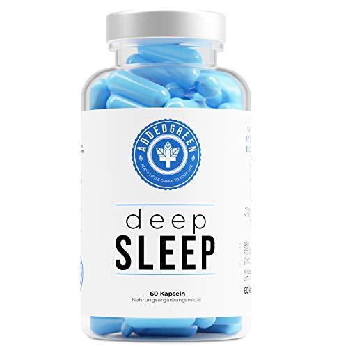 deepSLEEP, natürliches Schlafmittel von ADDEDGREEN, von Natur aus stark dank Baldrian & GABA, gut schlafen ohne Chemie