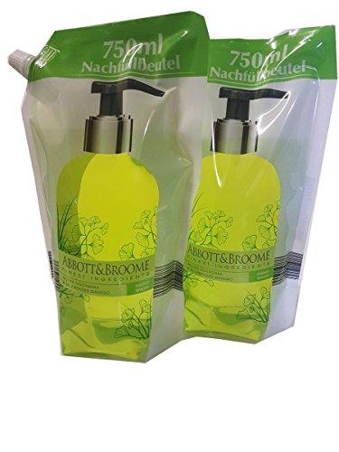 Abbott&Broome Handwash Set 2 x 750 ml Nachfüllpack Wildes Tigergras & belebener Ginkgo