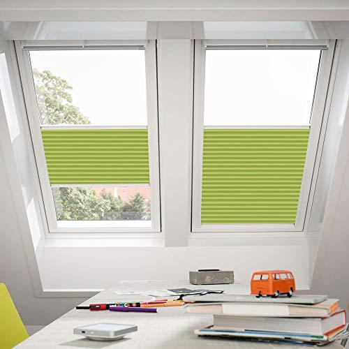 Velux plisado persianas para ventana de techo de la claraboya Luscious Lime 1266, 100{cddfdf81c938bf5abd8b7d63a6892dcc562b80e86ec12a06cf086b90dcc83fef} poliéster, Luscious Lime, GGL,GHL,GHU/ M04,304,1