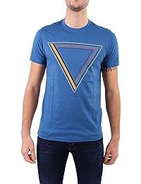 Paul Smith Men's PUPD010RP022944 Blue Cotton T-Shirt