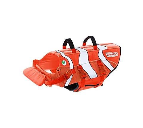 Outward Hound Kyjen Fun Fish Life Jacket Dog Life Preserver, Orange Medium