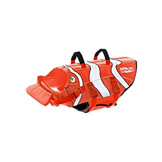 Dog Life Jacket Ripstop Life Jacket for Dogs by Outward Hound, Extra Large, Fun Fish 41s9OJoqD4L
