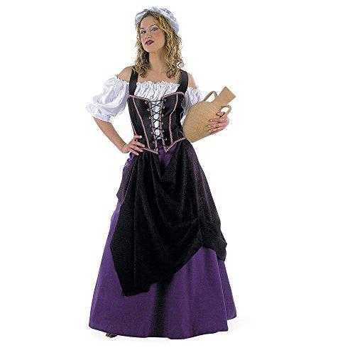 Kostüm Frau Wirtin (Wirtin Schankmaid Mittelalterkleid Kostüm Damen 4-tlg mit Haube XS-XL -)