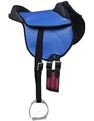 'Pony Selle Selle Pony Shetty Coussin d'équitation reitki avec accessoires compatible avec kit complet Bleu 12–Pony reitpad aussi pour cheval de bois geeignetes Selle Kit   Cub Saddle