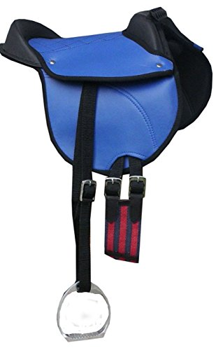 'Pony Selle Selle Pony Shetty Coussin d'équitation reitki avec accessoires compatible avec kit complet Bleu 12-Pony reitpad aussi pour cheval de bois geeignetes Selle Kit   Cub Saddle