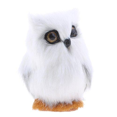 Non-brand Künstliche Feder Tier Weiße Eule Dekoration Geschenk Spielzeug Handcraft