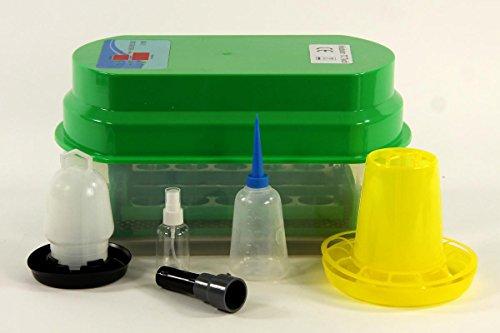Qubeat Allevamento Macchina BK15Pro pieno automatico + acqua, foraggio macchina 15 uova di gallina, incubatrice, allevatore motore