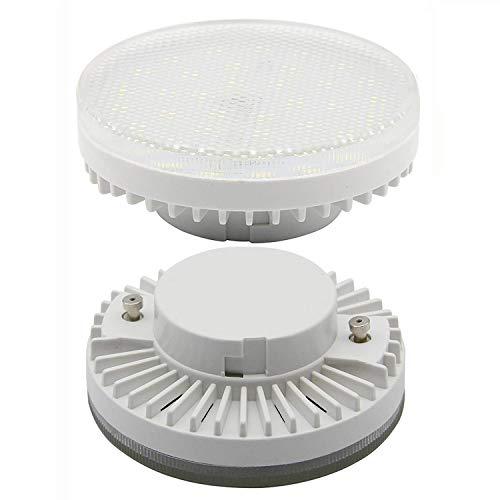XIX GX53 Led 7W CFL Ersatz für 60W Glühlampen,650LM LED Energiesparlampe, 6000K Kaltweiß, 2er-Pack - 7w Cfl