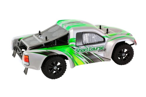 XciteRC 30407000 RC Auto Shortcourse one12 - 2WD Ready To Race Modellauto, grüne Karosserie 1:12 mit 2.4 GHz Fernsteuerung - 3
