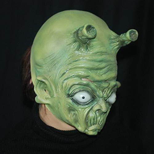 üne Hexenmaske Double Angle Alien Vollgesichts Cosplay Halloween Maske Party Requisiten Kostüm, GRÜN ()