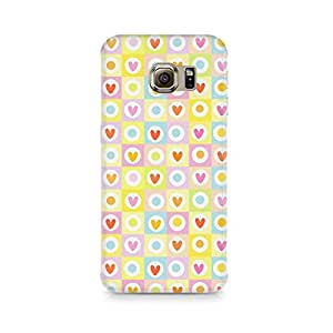 TAZindia Cute Hearts in Squares Premium Printed Case For Samsung Galaxy S7 Edge