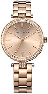 Mini Focus Womens Quartz Watch, Analog Display and Stainless Steel Strap - MF0039L.05