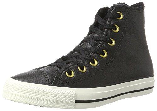 Converse Ctas Hi Black/Egret, Sneaker a Collo Alto Unisex-Adulto nero (nero)