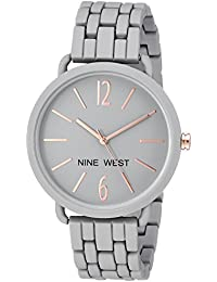 Nine West Quartz Metal and Alloy Dress Analogue Grey Dial Watch for Women ( NW/2148GYGY)