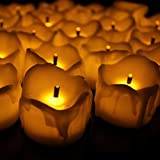 Smokeless Ecofriendly Real Like White Wax Candle Tlight Pack Of 12 Lights Diwali Wedding Christmas Party Home Decoration Trendy Quirky Unique Gifts Rice LED Copper Lights