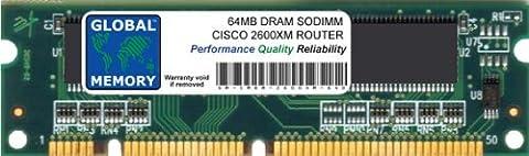64MB DRAM SODIMM ARBEITSSPEICHER RAM FÜR CISCO 2600XM SERIES ROUTERN (CISCO P/N MEM2600XM-64D)
