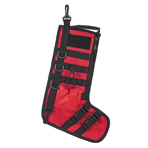 NC Star CNSTKG2986R Ncstar, Tactical Stocking with Handle, Red 2in Loop Tape