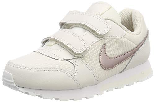 Nike Mädchen Md Runner 2 (PSV) Laufschuhe, Mehrfarbig (Phantom/MTLC Red Bronze-White 016), 30 EU -