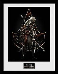 1art1 106728 Assassin's Creed - Origins, Assassin Gerahmtes Poster Für Fans Und Sammler 40 X 30 Cm