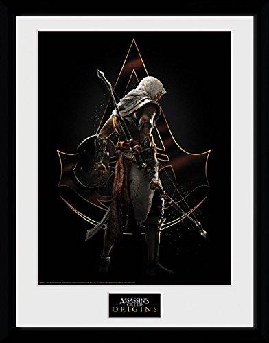 Preisvergleich Produktbild 1art1 106728 Assassin's Creed - Origins, Assassin Gerahmtes Poster Für Fans Und Sammler 40 x 30 cm