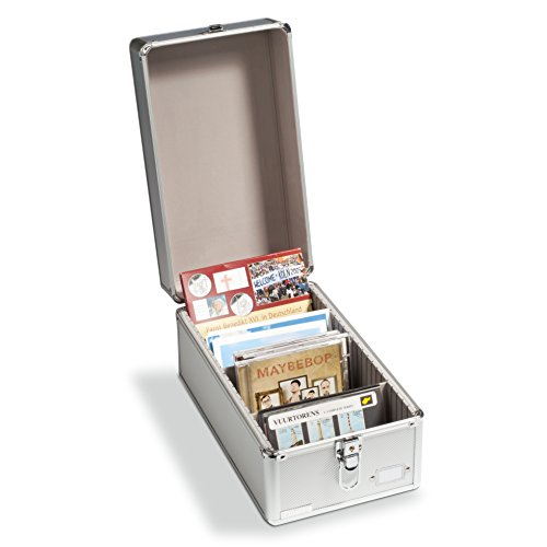Leuchtturm 317821 Sammelkoffer Cargo Multi | Aufbewahrungs-Box für Postkarten, Münzsätze oder CD's Format: 250 x 215 x 365 mm