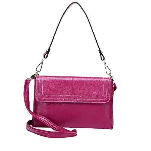 Damen-Mode Schultertasche Leder Messenger Bag Purple