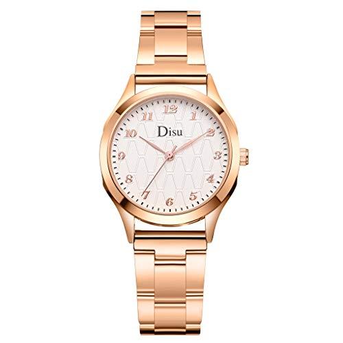 YULAND Damen Uhren Analog Quarz Fashion Disu Casual Quartz Steel Strip Präzisionswaage Uhr Damen Analog Armbanduhr