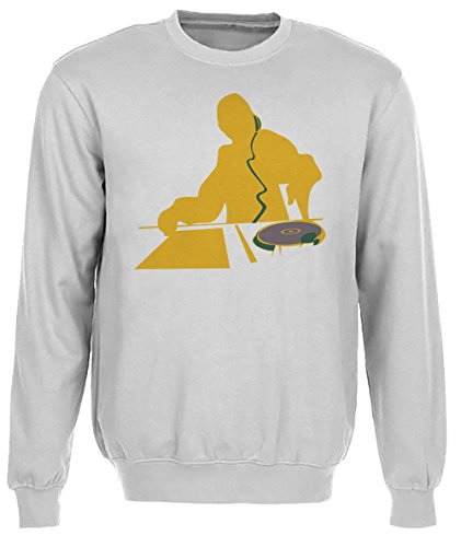 Disc-jockey giallo Donna Grigio Felpa Felpe Maglione Pullover Grey Women's Sweatshirt Pullover Jumper