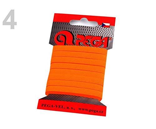 1kart 4 (4301) Orange Neon Wäscheband/Gummiband Breite 7mm Verschiedene Farben, Gummilitzen Wäschegummis Karten - Kleine Packungen, Gummibänder, Kurzwaren -