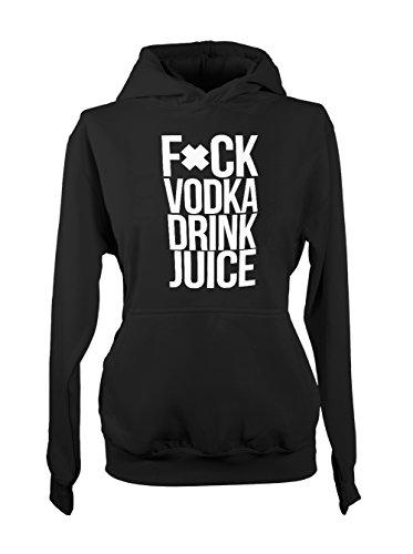 F*ck Voda Drink Juice Party Femme Capuche Sweatshirt Noir