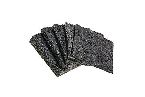 Terrassenpads 90 x 90 x 3mm 6mm 8mm 10mm 20mm! Stärke und Menge auswählen !! (90 x 90 x 3mm Menge: 25 Stück)