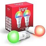 Innr E27 Smart LED Lampe, Color, dimmbar, RGBW, kompatibel mit Philips Hue* und Echo Plus (Bridge erforderlich) (RB 285C-2)