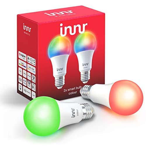 Innr E27 Smart LED Lampe, Color, dimmbar, RGBW, kompatibel mit Philips Hue* und Echo Plus (Bridge erforderlich) (RB 285C-2) -