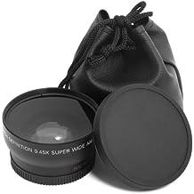 XCSOURCE Negro 52mm 52mm + pochette-housse Gran Angular 0.45x Lente Gran Angular y Macro para Nikon D4D3X D800D700D600D300S D300D7100D7000D5200D5100D5000D3200D3100D3000D90D80D70D60D50D40LF36
