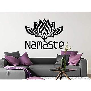 Hochwertige Mandala Meditation Blume Wandtattoo Lotus Indian Schmuck Wandaufkleber Home Art Deco Wandbild 57x66cm