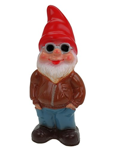 Gartenzwerg Cool Kai aus bruchfestem PVC Zwerg - Made in Germany Figur