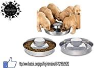 King International Stainless Steel Dog Puppy Litter Food Feeding Weaning Bowl, Silver