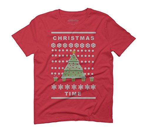 Christmas Time Men's Graphic T-Shirt - Design By Humans Red