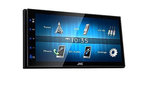 Sportback 8P 8PA 2006-2012 schwarz JVC Radio 2 DIN USB AUX für Audi A3