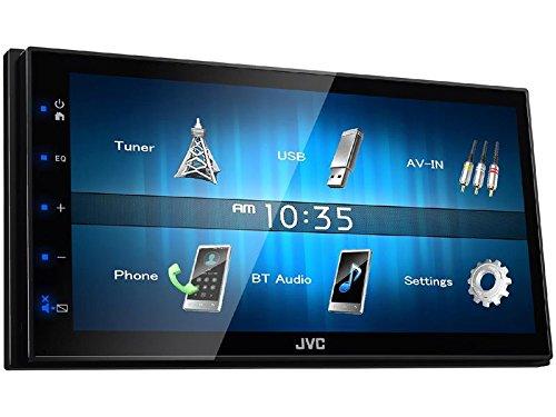 JVC Autoradio KW-M24BT 2 DIN Bluetooth Spotify mit Einbauset für Chrysler PT Cruiser (FY/JY Facelift)