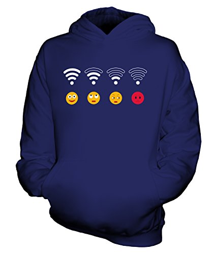 Candymix - Wifi Emoji - Unisex Kids Hoodie Boys Girls Childrens Toddlers Hooded Sweater Top