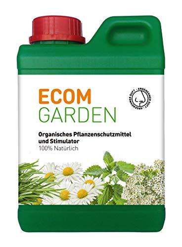 Organisches Pflanzenschutzmittel und Stimulator. Ecom Garden. Flüssigdünger BioStimulator zur Blatt Anwendung. 1L. Belebt die Pflanze und verleiht Ihr Schönheit. -