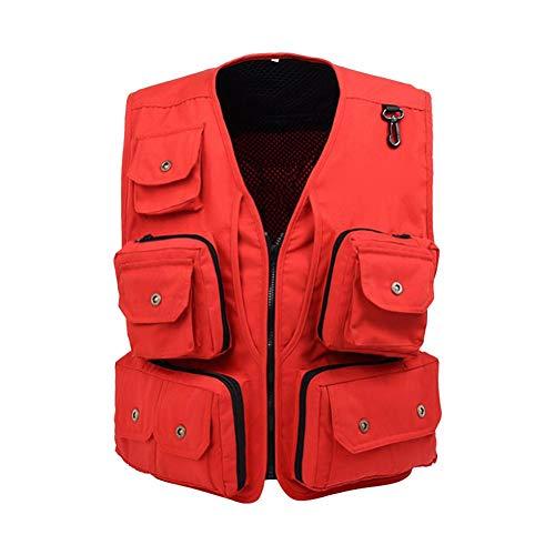 iBâstte Anglerweste Herren Weste Hunting Weste Ärmellos Weste mit Viele Tasche Jacket für Jagd Angeln Camping Outdoor Multi Pockets Weste