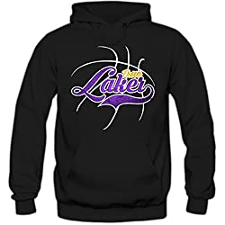 True Laker #3 Sudadera Con Capucha | Hombre | Basketball | Play Offs | Champion | Basketball Hoodies | American Sports | USA | Hoody, Farbe:Schwarz (Black F421);Tamaño:Large