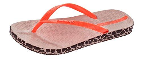 Ipanema Impresso Flip Flops femmes / Sandales - Giraffe pink