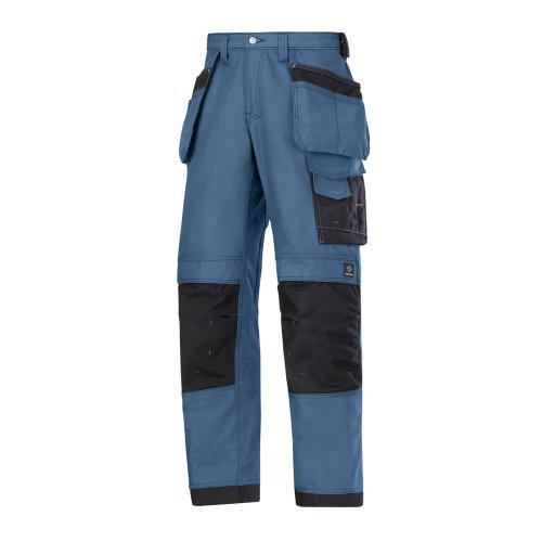 Snickers 32141818048 Canvas+ Pantalon d'artisan Taille 48 Gris Bleu océan/Noir