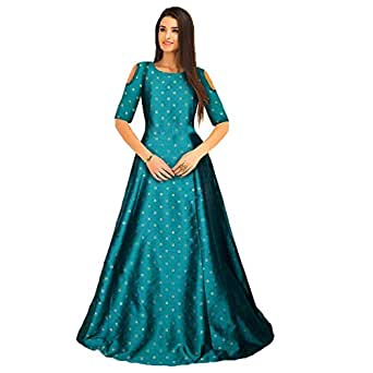 Active Feel Free Life Satin Pleated Dress (G-62 Sofiya Green Gown-Act6 FS)