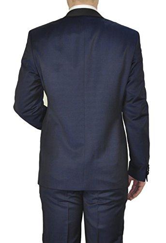 Michaelax-Fashion-Trade - Veste de smoking - Uni - Manches Longues - Homme Blau (38)