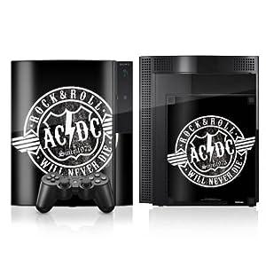 DeinDesign Sony Playstation 4 Controller Folie Skin Sticker aus Vinyl-Folie Aufkleber ACDC Merchandise Rock & Roll