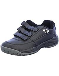 Scarpe sportive nere con chiusura velcro per bambino Mirak